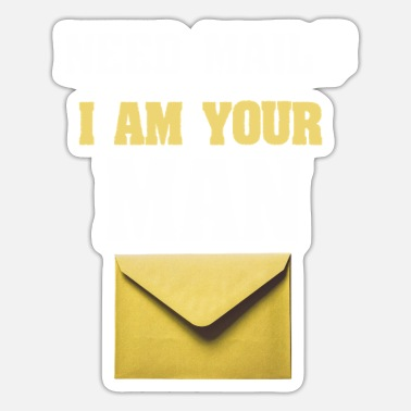 Workwear Need mail? I am your MAN. Postman Yellow design - Sticker