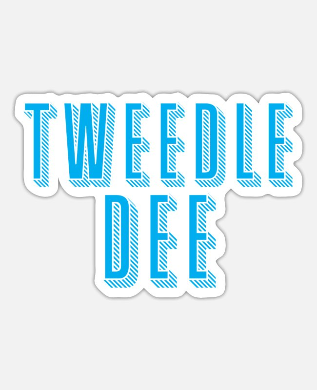 Idiot Stickers - tweedle dee with matching tweedle dumb - Sticker white mat