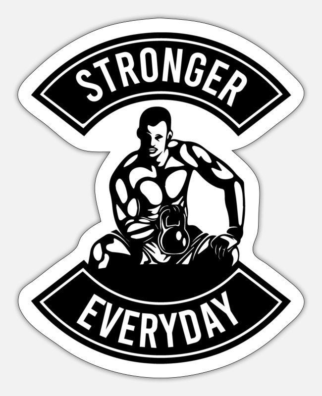 Training Stickers - Stronger Everyday Cowbell - Sticker white matte