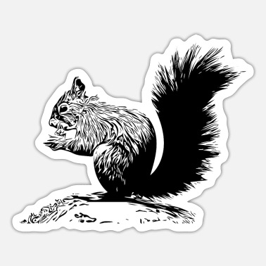 Tumbling Tumbled squirrel with a nut - Sticker