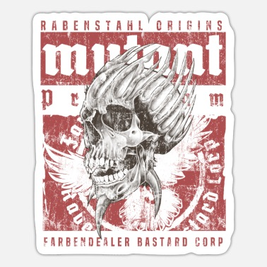 Mutant Mutant raven steel - Sticker