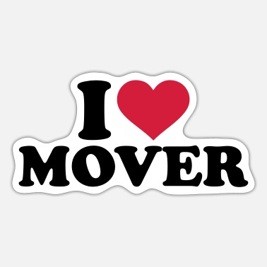 Movers I love mover - Sticker