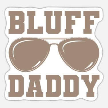 Bluff BLUFF DADDY POKER-kortspilergave - Sticker