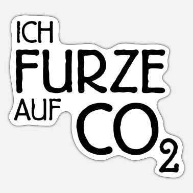 Co2 Ich Furze auf CO2 - Sticker