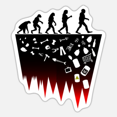 Evolutionstheorie Darwin Evolutionstheorie Klima Müll Fridays for - Sticker