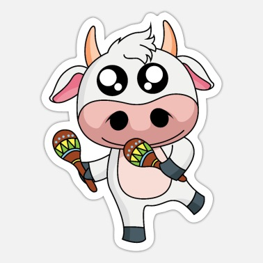 Udder Dairy Cow Salsa Cow Dairy Cow - Design - Sticker