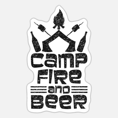 Beer Tent Tent fire and beer - design - Sticker