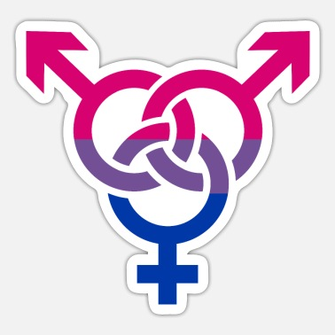 Bisexual Bisexual - Sticker