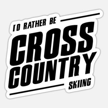 Cross-country Skiën cross-country skiën - Sticker