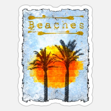Beach Beaches - palm beach - Sticker
