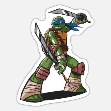 Mutant TMNT Turtles Leonardo Ready For Action - Sticker