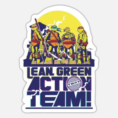 Green TMNT Turtles Lean Green Action Team - Sticker