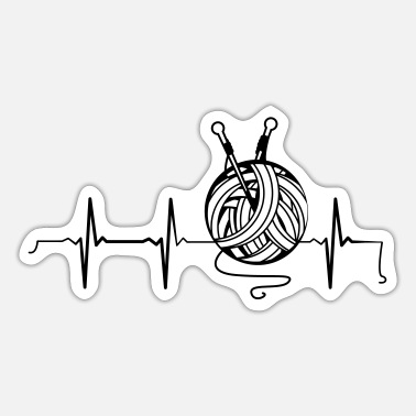 Knitting Heartbeat Knitting - Sticker