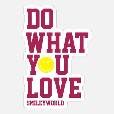Officialbrands SmileyWorld Do What You Love - Autocollant