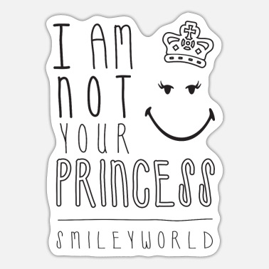 Officialbrands SmileyWorld I Am Not Your Princess - Autocollant