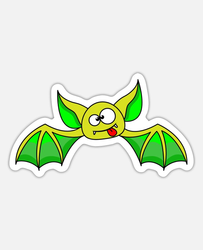 Cuddly Animals Stickers - Bat, bat, halloween - Sticker white matte
