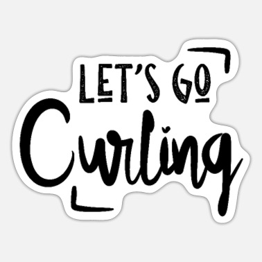 curling spelers - Sticker