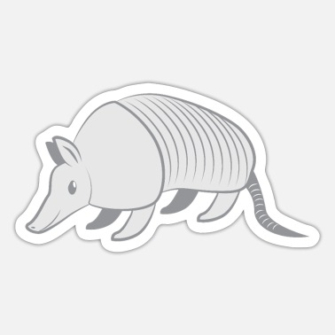 Grå GRÅ armadillo - Sticker