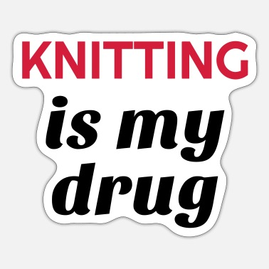 Knitting het breien / brei / breister / knitting - Sticker