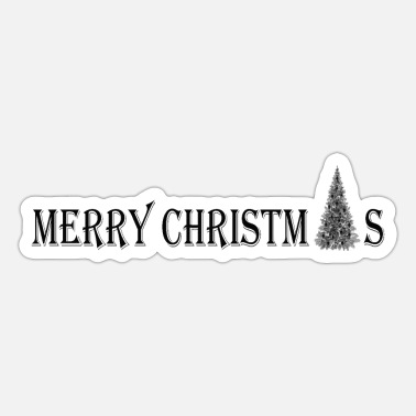 Merry Christmas - Merry Christmas kerstboom - Sticker