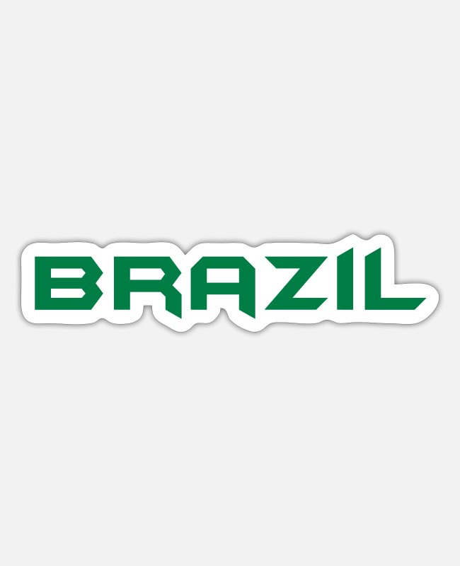 Brazilian Carnival Stickers - ♥I Love Brazil-Vector Awesome Country Design♥ - Sticker white mat