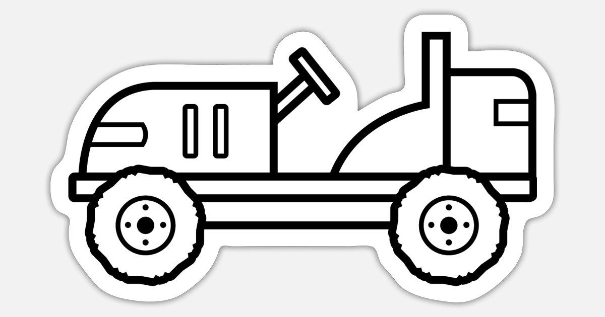 Traktor Zum Ausmalen Und Bemalen Kinder Geschenk Sticker Spreadshirt