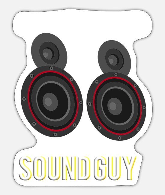 Bass Stickers - AUDIOLOGIST / CAR STEREO: SOUND GUY - Sticker white mat