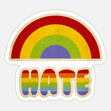 Parody Rainbow hate parody - Sticker