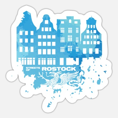 Hro Streets of Rostock blau - Design - Sticker