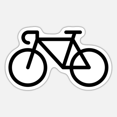Pictograph Racing Bicycle / Bike (Icon / Pictogram) - Sticker