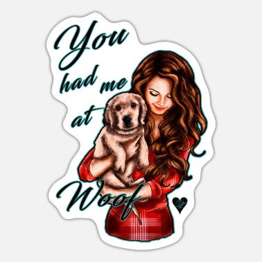 Pentecostal Cute dog saying - brunette | Yolo Artwork - Sticker