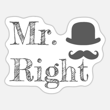 Matching Couples Gift Gift Mr Right Gift - Sticker