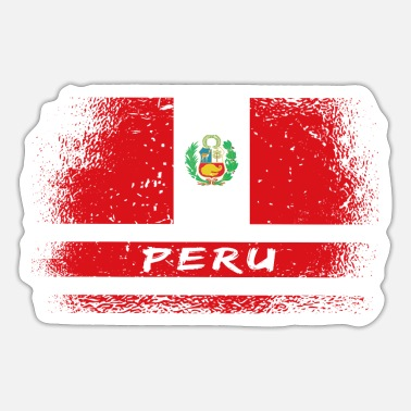 Cusco Peru vintage flag - Sticker