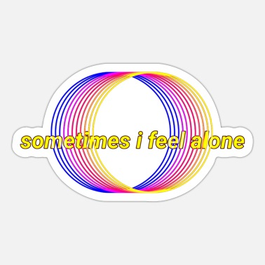 Loneliness Feelings, loneliness and sadness - Sticker