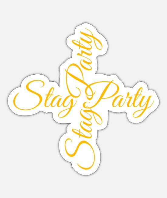 Bachelor Party Stickers - Stag Party - Sticker white mat