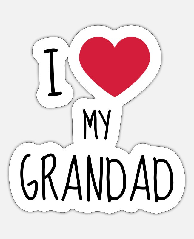 Grandpa Stickers - Grandpa Grandad Grandfather Family Baby Funny - Sticker white matte