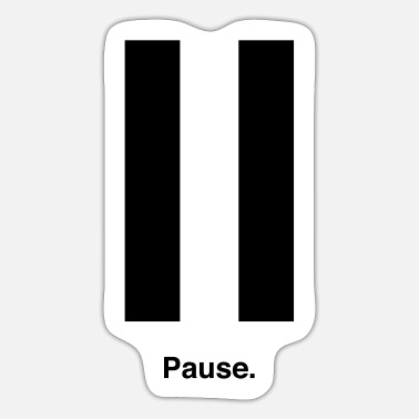 Paus Pause - Sticker