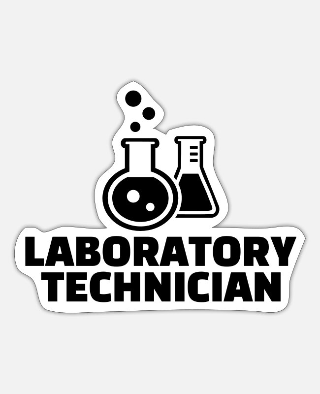Biotechnology Stickers - Laboratory technician - Sticker white mat