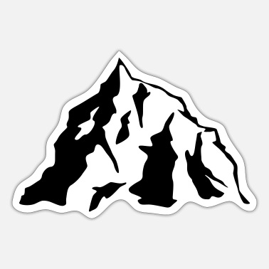 Icon Mountain Icon - Sticker