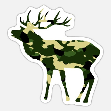 Camouflage Colors Deer in camouflage color with big antlers - Sticker