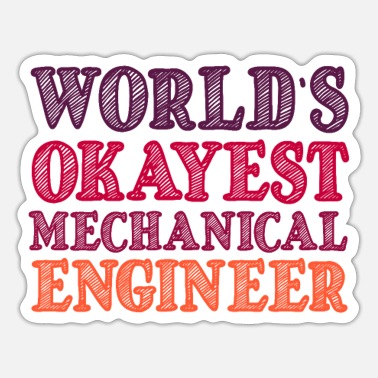 Mechanical Engineering mechanical engineer - Sticker