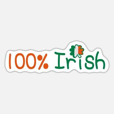 Baseball Underwear ♥ټ☘Kiss Me I'm 100% Irish-Irish Rule☘ټ♥ - Sticker