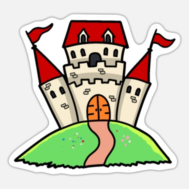 Chivalry Castle Ritterburg Castle fortress Ritterburg children - Sticker