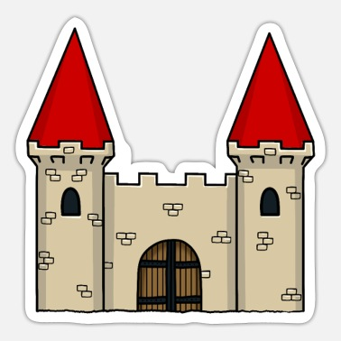 Chivalry Knight castle medieval knight fortress castle - Sticker
