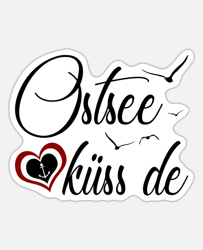 Poel Sticker - Ostsee küss de - Design - Sticker Mattweiß