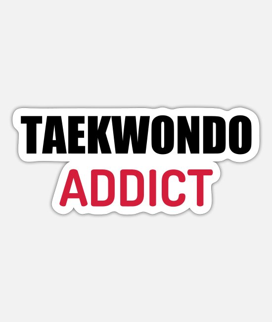 Karate Stickers - Taekwondo Taekwondoin Tae-Kwon-Do Tae Kwon Do - Sticker mat hvid