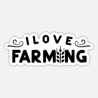 Farm Farm farm labor field worker farm worker - Sticker