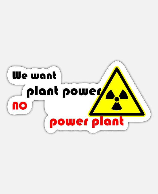 Eco Stickers - plant power 2 - Sticker white mat