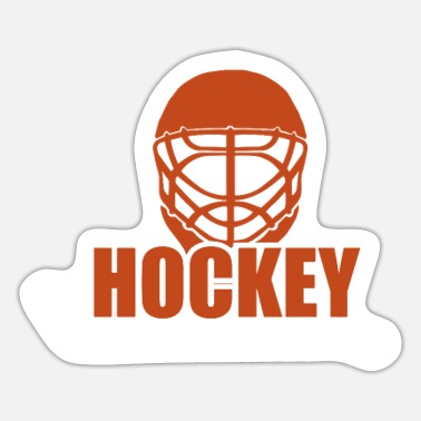 Hockey ijshockey fan cadeau - Sticker