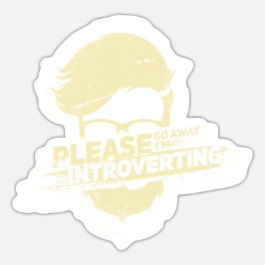 Loneliness Introvert Loneliness Nerd Alone Gift - Sticker